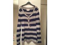 Navy & grey stripe jumper