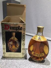 Dimple boxed bottle 1970
