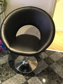 5 x leather dining chairs