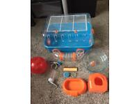 Small hamster or mouse cage