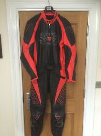 Dianese Two Piece Leathers and boots for sale