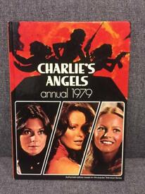 Rare retro vintage 1970s 70s CHARLIES ANGELS TV ANNUAL 1979 Cheryl Ladd action adventure SDHC