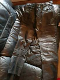 leather motorcycle trousers