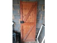 External wooden door 200 x 76 cm