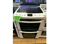ZANUSSI 60CM ELECTRIC DOUBLE OVEN COOKER IN WHITE