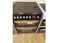 Hotpoint HUE61KS Ceramic Electric Cooker with Double Oven