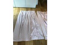 Beautiful light pink blackout curtains custom made (pair of 85x156cm) (£70)