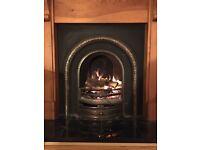 Beautiful cast iron fireplace and wooden surround