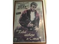 Framed James Dean poster