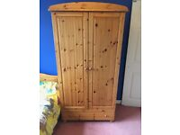 Wooden Wardrobe with Plenty of Shelves and Storage