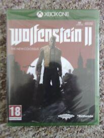 Wolfenstein 2 NEW SEALED for Microsoft Xbox One, Xbox One S and Xbox One X