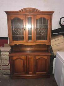 Display cabinet for sale good clean condition solid wood