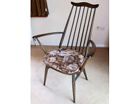 6 Vintage Ercol Dining Chairs & Carvers plus Coffee Table