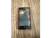 Nokia lumia windows phone red