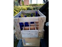 VINTAGE RUSTIC WOODEN WOOD FRENCH CRATE