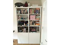 Ikea bookcase with doors