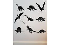 Childrens Boys/Girls Wall Decal Stickers Art Silouette Home Decor of Dinosaurs