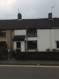 Two bedroom terraced cottage, Kenfig Hill. Fully furnished, Gas boiler.
