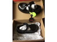 Girls black kicker shoes size 7