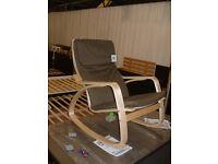 Fabric Rocking Chair - Dark Green. (Please call - 07851770393 Michal)