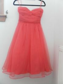 Ariella London Dress. Size 8. Salmon pink. New without tag. Occassion
