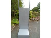 Freestanding Grey Metal Wall Pegboard Unit Approx 2.15m H x 65cm W x 63cm D