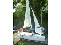 FOR SALE TOPAZ MAGNO SPORT SAILING DINGHY. SAILS,SPARS,FOILS AND SHEETS IN GOOD CONDITION.