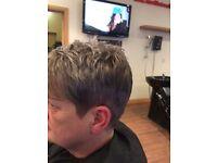 Experienced hairdresser based in deans Livingston