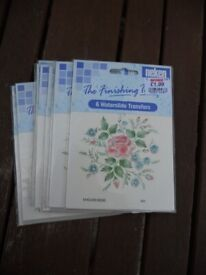 waterslide transfers English rose x 10 packs