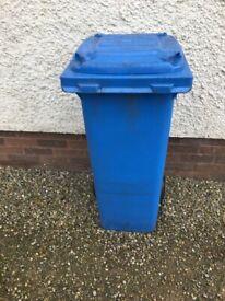 Blue small wheelie bin