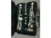 Clarinet yamaha 250 Hercules stand strap books