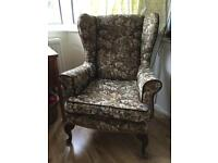 Wingback armchairs (pair)