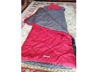 Sleeping bag with attached pillow & storage bag,