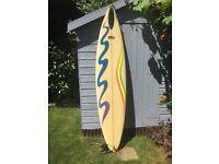 7'0 ft Mac Gun Custom Surfboard and Board Bag - great condition