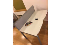 office rectangle white desk with divider