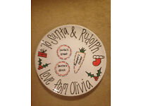 Personalised Christmas Eve Box Plates for Olivia, Lucy and Sienna - brand new