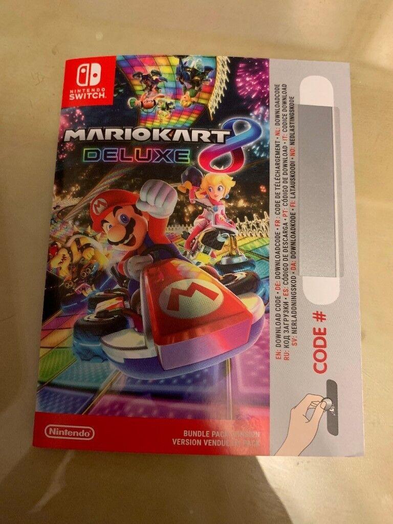 Mario Kart 8 Deluxe for Switch Download Code   in Upminster, London    Gumtree