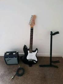 Guitar, Speak, stand and cable