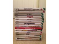 Bundle Of Nintendo Wii Games And Two Wheels