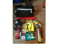 Quality Emergency or Touring Kit for Car, Caravan or Motorhome+ Storage Case