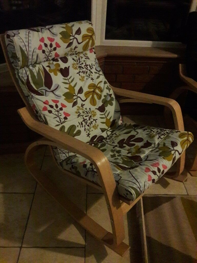 Outstanding Ikea Poang Rocking Chair And Footstool In East Kilbride Glasgow Gumtree Machost Co Dining Chair Design Ideas Machostcouk