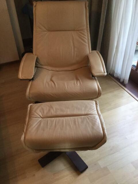 Incredible Leather Swivel Easy Chair And Matching Foot Stool Made By Kebe In Denmark In Filton Bristol Gumtree Theyellowbook Wood Chair Design Ideas Theyellowbookinfo