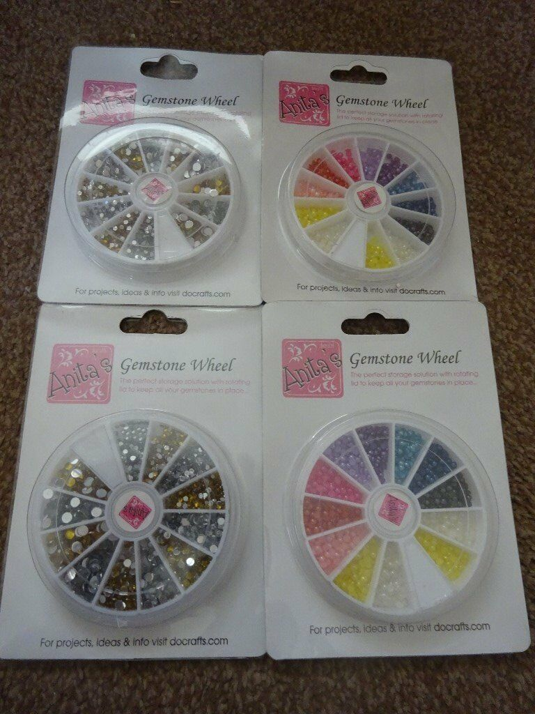 New Anita's Gemstone Wheel Coloured or Silver and Gold £2 each Art and Craft scrapbooking Xmas Gift