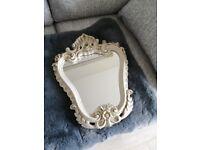 Small Vintage Ornate Shabby Chic Mirror