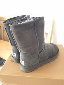 Genuine Grey Uggs-Size 6.5