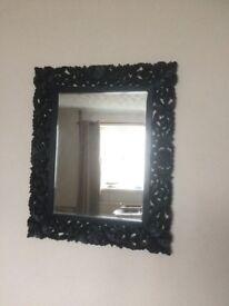 Mirror vintage style black surround