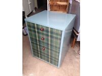 Dark green colour with taran front bedside table full of storage bedroom furniture Longfield Kent