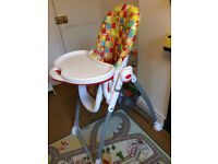 Mothercare baby feeding high chair in very good condition - £30 ONO
