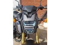 2017 Honda msx grom 125cc. Only has 606 miles. First service just done at dealer.