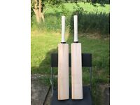 Grade 1+ professional English willow cricket bats, Hand Made, £80 Each or £150 for two